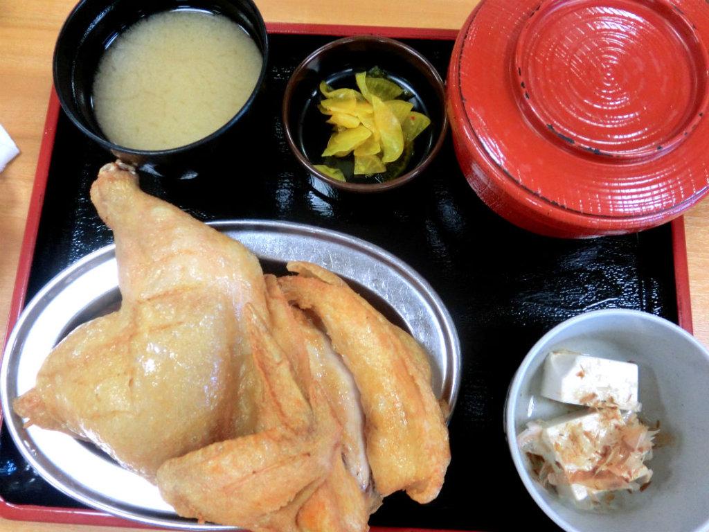 【小樽でがっつりチキン】若鶏時代なるとの半身揚げ・ザンギ定食